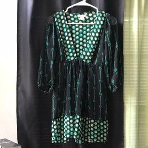 Black and green tunic/dress